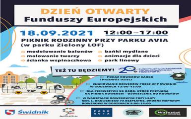 Piknik rodzinny z okazji Europejskiego Tygodnia Zrównoważonego Transportu